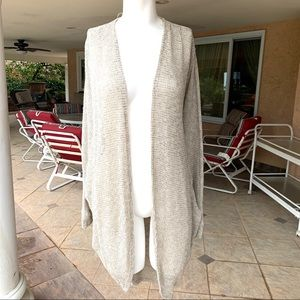Lush cardigan taupe long light weight sweater